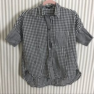 Madewell Gingham-Play Button Down Shirt